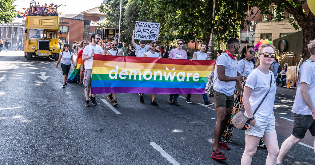 ABOUT SIXTY THOUSAND TOOK PART IN THE DUBLIN LGBTI+ PARADE TODAY[ SATURDAY 30 JUNE 2018] X-100138