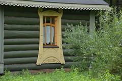 design of the window (Hayashina) Tags: russia mandrogi window wooden design green hww