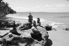 The Temple (Carlos A. Aviles) Tags: beach playa templo temple rocas rocks totem rincon puertorico blackandwhite blancoynegro travel viajes spiritual spirituality espiritualidad espiritual