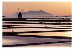 Sicilian sunset (Davide Parigi) Tags: sunset sicily windmills salt flats removedfromstrobistpool nooffcameraflash seerule1