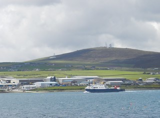 Shapinsay Ferry arriving into Kirkwall, Orkney Islands, June 2018