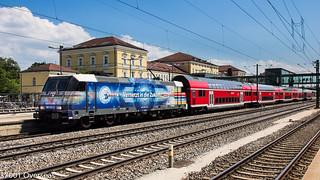 DB 146 247 on RE 4854 at Regensburg Hbf