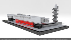 Lego Montjuic firestation 2 (guillaume.pisella) Tags: lego architecture moc building bombers fire station concrete montjuic barcelona emergency microscale firetruck manuel ruisanchez arquitecto spain contemporary