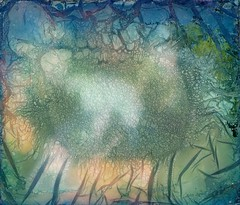 . (hjorr dis) Tags: polaroidspectra hjorrdis doubleexposure selfportrait polaroid water impossibleproject