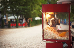 Popcorn in Park (dejankrsmanovic) Tags: popcorn food eating machine device unit appliance park public object stilllife day outdoor nobody empty container consumerism vacation ordinary candid nature outside pot fun sidewalk