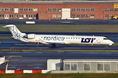 Canadair CRJ-900 ES-ACJ L.O.T. / Nordica (EI-DTG) Tags: zaventem brusselsairport bru 30jan2018 planespotting aircraftspotting esacj canadair crj900 crj bombardier lot nordica