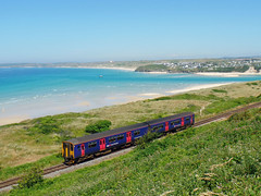 150219 Porthkidney Sands (2) (Marky7890) Tags: gwr 150219 class150 sprinter 2a30 porthkidneysands railway cornwall stivesbayline train