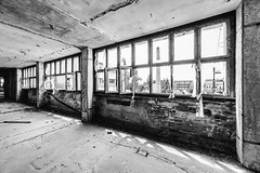23/30 2017/07 (halagabor) Tags: urban urbex urbanexploration urbanexploring exploration exploring explorer abandoned abandonment decay derelict devastation nikon d610 building architect architecture lost lostplaces old forgotten industrial factory indoor samyang samyang14mm 14mm window budapest hungary hungarian bnw blackandwhite monochrome