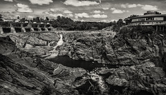 The Gorge of Grand Falls (SNAPShots by Patrick J. Whitfield) Tags: rocks water landscapes lines patterns summer light shadows details textures waterfalls architecture bw blackwhite blackandwhite bnw noiretblanc noire life outside monochrome