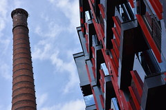 The Old and the New (Jacques Teller) Tags: tallinn estonia industrial reconversion chimney architecture urban gentrification nikond7200 jacquesteller rottermanni rotermannquarter