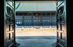 Doors opening to doors (TokyoInPics) Tags: tokyo japan temple confucius doors ochanomizu chiyodaward architecture