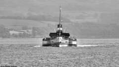 Scotland West Highlands Argyll the paddle steamer Waverley 22 June 2018 by Anne MacKay (Anne MacKay images of interest & wonder) Tags: scotland west highlands argyll sea coast paddle steamer waverley monochrome blackandwhite landscape xs1 22 june 2018 picture by anne mackay