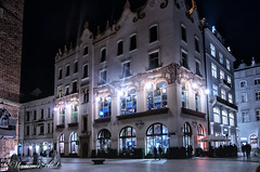 Hard Rock Cafe (kud4ipad) Tags: 2017 krakow poland architecture building night smcpentaxda1645mmf40