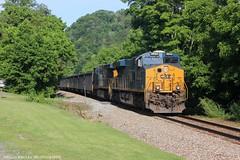 KT24/W090-24 (Railroad Gal) Tags: railroad railfan railfanning csx csx3044 generalelectric es44ac es44ah virginia scottcountyvirginia coaltrain landscape trains trees sunshine locomotive csxt appalachian appalachianmountains