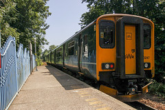 150247 (Rob390029) Tags: greatwesternrailway gwr class150 150247 falmouth town railway station fmt