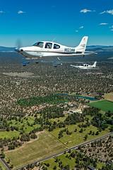 Gosney Lane - Deschutes County, OR  USA (Baron von Speed) Tags: airtoair bend c2a cirrus formationclinic kbdn oregon ©baronvonspeed2018 unitedstates us 3i9a1622edit sr22 n623wm n118gs