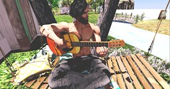 ♬Happy rez day!! (Markthedark SL) Tags: sl second avatar outdoor guitar virtual secondlife catwa mesh signature music sun hammock evh home rez day birthday song sunny shadows