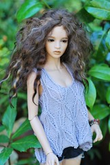 Enjoying the garden today (stashraider) Tags: ahanti iplehouse sid sd resin ball jointed doll special real skintone amadiz wig ospirit