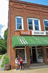 saludanccoca (FAIRFIELDFAMILY) Tags: pacolet river saluda nc north carolina south little rustic mountain stairs steps coca cola sign building historic architecture downtown water hiking walking child young old store coke porcelain enamel button michelle jason grant carson mother son taylor fairfield county winnsboro garden gun southern living outside explore exploring pretty nature travel