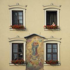 Poland - Krakow - Rynek windows 01_sq_DSC1198 (Darrell Godliman) Tags: polandkrakowrynekwindows01sqdsc1198 rynek krakow cracow poland windows dwwg yellow building