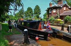 The Shropshire Union Canal (Eddie Crutchley) Tags: europe england cheshire audlem canal locks shropshireunioncanal narrowboat simplysuperb sunlight trees blueskies cottage