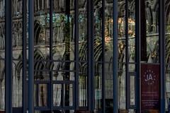 mirrors and portals (e-box 65) Tags: mirror portal trondheim nidaros church cathedral windows reflection norway norge scandinavia nikon d7200 18 105 statues