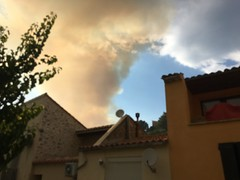 Fire in Fitou