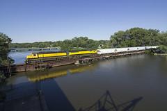 SD45 Mainline Return (dmara3016) Tags: newjersey nysw newyorksusquehannaandwesternrailway sd60 sd452 susquehanna ws5 local sparta hackensackriver