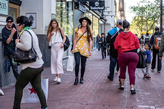 San Francisco 2018 (burnt dirt) Tags: sanfrancisco california vacation town city street road sidewalk crossing streetcar cablecar tree building store restaurant people person girl woman man couple group lovers friends family holdinghands candid documentary streetphotography turnaround portrait fujifilm xt1 color laugh smile young old asian latina white european europe korean chinese thai dress skirt denim shorts boots heels leather tights leggings yogapants shorthair longhair cellphone glasses sunglasses blonde brunette redhead tattoo pretty beautiful selfie fashion japanese yellow flower hat tight