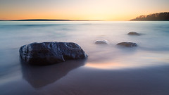 Blended Dots (andrewpmorse) Tags: awendaprovincialpark ontario ontarioparks canada lake lakehuron georgianbay rocks sunset longexposure seascape water sand beach evening canon canon5dmarkiv 2470f28lii leefilters leelandscapepolarizer leelittlestopper 5div