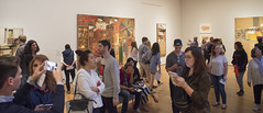 Rocking on Rauschenberg (Tim Brown's Pictures) Tags: newyork newyorkcity moma museumofmodernart picasso paintiing art visitors crowd tourists robertrauschenberg retrospective 2017 ny unitedstates panorama