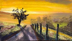"""Sunday evening devotional """"Country Road"""" 10x6 pastel on prepared paper. #jestergraphix #pastelpainting #road #pastel #orange #abseconarts #artsinabsecon #newjersey #jerseyshore #skyscape #meditationsinpigment (jestergraphix) Tags: jestergraphix pastelpainting road pastel orange abseconarts artsinabsecon newjersey jerseyshore skyscape meditationsinpigment"""