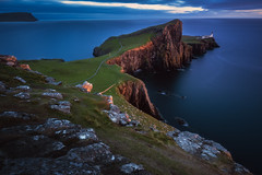 Scotland - Neist point Classic (030mm-photography) Tags: blau schottland scotland isleofskye skye leuchtturm lighthouse landschaft landscape nature natur reise travel meer sea atlantic atlantik klippe cliffs rocks sunset sonnenuntergang uk vereinigteskönigreich