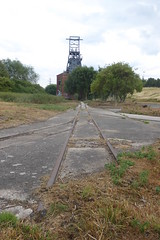 Old track at Barnsley Main colliery  July 2018 (dave_attrill) Tags: barnsley main colliery doncasterroad coal mining industry abandoned site closed july 2018 track railway narrowgauge woodyard dearnevalley dearne southyorkshire yorkshire remains listed building structure coalfield
