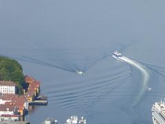 Making Waves (m_artijn) Tags: making waves norway bergen fløyen fjord boat ship sea ferry