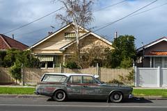 Newport (Westographer) Tags: newport melbourne australia westernsuburbs suburbia valiant valiantstationwagon venetianblinds weathered rust patina house home streetscape parked