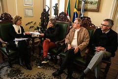 14/06/18 - Visita a prefeita de Pelotas/RS, Paula Mascarenhas.