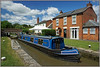 BIG BLUE BIRD (Jason 87030) Tags: garter blue lner 4468 mallard a4 boat narrowboat nelson lock guc cut canal grandunion june 2018 nice water pub admiralnelson waterways braunston northants northamptonshire sun light clor colour lighting village towpath vessel fun great cool