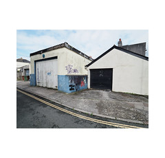 garages (chrisinplymouth) Tags: building architecture shed outbuilding garage street plymouth devon england uk cw69x xg city