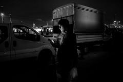(㋡ Aziz) Tags: galata xt2 fujifilm 16mm street streetphotography bw mono blackandwhite black white dark contrast man candit city light composition face trasnsport istanbul lines lights sky night lowlight iso grain people
