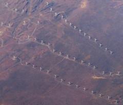 wind powered... (al-ien) Tags: landscape abstraction wind windmills windpower arial handofman