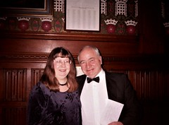Jean Upton & Colin Dexter (photo by Roger Johnson)