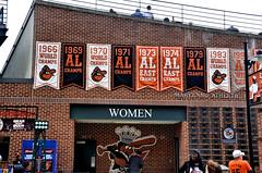 Baltimore Orioles Banners (Redbird310) Tags: baseball sports stadium maryland orioles baltimore mlb americanleague ballpark ballyard