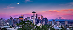 The Emerald City (Amar Raavi) Tags: spaceneedle seattle downtown mountrainier mtrainer skyline iconic mountain volcano cityscape buildings architecture skyscrapers city outdoors travel washington usa clouds emeraldcity landscape panorama