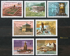 The Seven Wonders of the Ancient World (Mr_Phila) Tags: philately philatelie collectibles postagestamps briefmarken timbres sellos stamps history architecture antiquity ancientworld buildings statues 1980