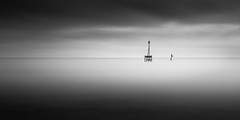 Negative space (Mar and mar) Tags: longexposure blackandwhite sea seascape water minimalism minimal mono monochrome movingsky morning isleofwight landscape ndfilter 16stopsfilter canon fineart outdoor