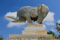 Charging Bull Sculpture (Holfo) Tags: cyprus ayianapa sculpture sculpturepark bull nikon d5300