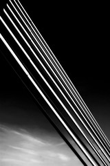 Equilibrium... (Sabine-Barras) Tags: réunion monochrome blackandwhite bnw bw lignes lines pont bridge sky ciel dark abstrait abstract clouds nuages