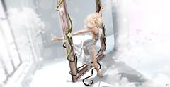 Through the worlds (meriluu17) Tags: sense foxcity fantasy dream dreammy white minds motion unrel surreal people fairy fae angel angelic