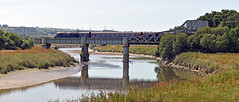 Bridge On The River Towy (studogs30) Tags: carmarthen gwr 1l62 1001sopembrokedocktopaddington pembrokedockexpress rivertowy whitebridge rollingbasculebridge